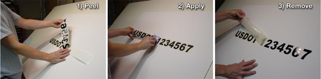 vinyl lettering application
